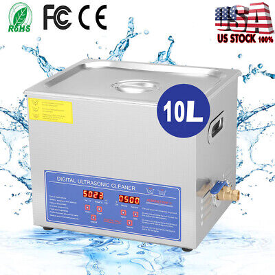 Stainless Steel 10L Liter Industry Heated Ultrasonic Cleaner Heater with Timer