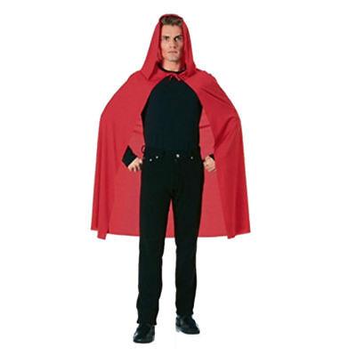 Erwachsene Rot Kapuze Cape Kleiner Kostüm Rotkäppchen Mantel Damen Herren 45