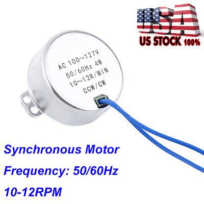 Ac 100-127v 4w 10-12rpm Synchronous Motor 5060hz Ccwcw Geared Motor