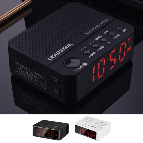 LEADSTAR MX-17 Bluetooth Speaker with 3.5 inch LED Screen Clock Alarm FM Radio