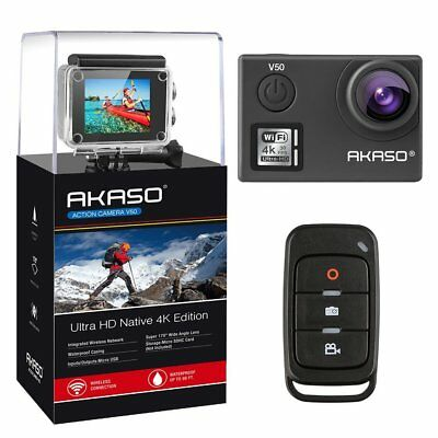 AKASO V50 Native 4K/30fps 20MP WiFi Action Camera w/ EIS Ultra HD 30m Waterproof