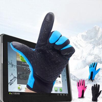 Unisex Winter Touch Screen Waterproof  Warm Ski Climbing Finger Gloves Hot
