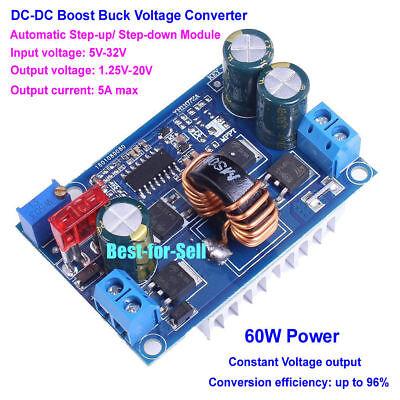 Dc-dc Automatic Boost Buck Converter Step Updown Regulator 5-32v To 1.25-20v 5a