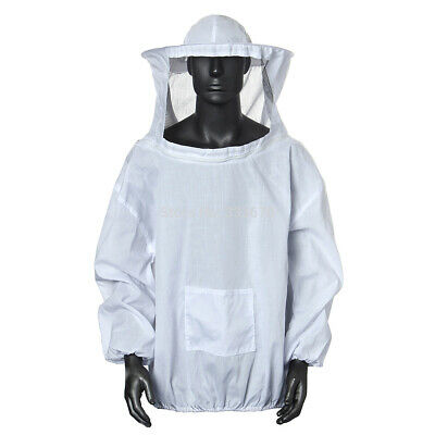 Beekeeping Protective Jacket Veil Dress Suit With Pull Hat Smock Equipment Us
