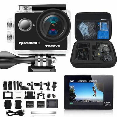 TECEVO 1080P HD Sports Camera WIFI Mini DV+Case Bundle Action Camcorder SJ4000-i