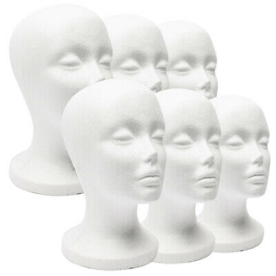 Foam Mannequin Female Head Model Dummy Wig Glasses Hat Display Stand Rack Wide (Dummy Glasses)