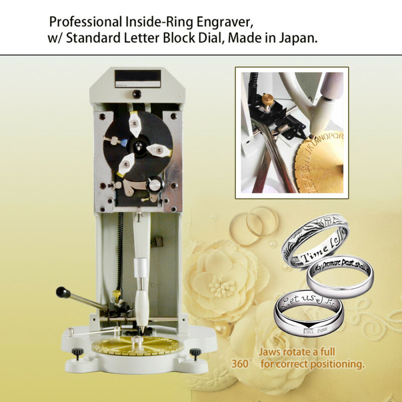 Inside Ring Engraver with Two Faces Standard Letter Block Dial Engraving Machine