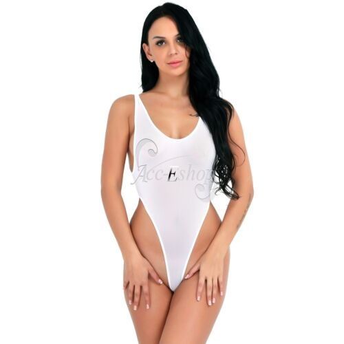 Women One-Piece Swimsuit High Cut Yoga Leotard Thong ...
