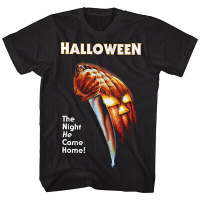 Halloween Horror Night Movie (Halloween Horror Movie Poster Men's T-shirt The Night HE Came Home Scary)