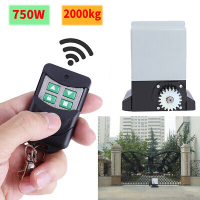 2000kg Automatic Sliding Gate Opener Kit Door Electric with 2 Remote Control