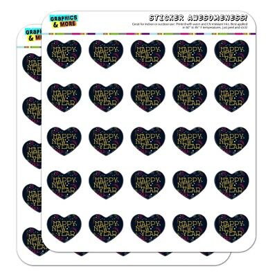 Happy New Year Heart Shaped Planner Calendar Scrapbook Craft