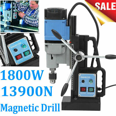 1800w 110v Magnetic Drill Press 13900n Boring Mag Force Industrial Drill Tapping