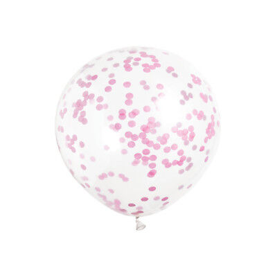 Clear Balloons With Hot Pink