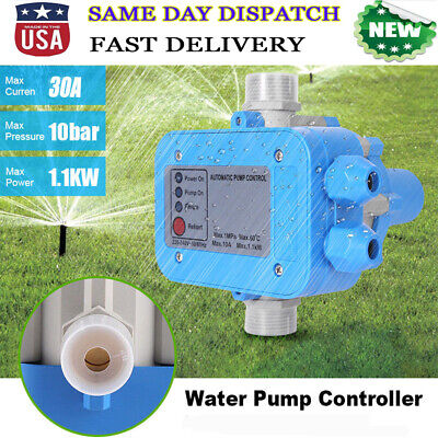 110v Automatic Water Pump Pressure Controller Electric Electronic Switch Unit Us