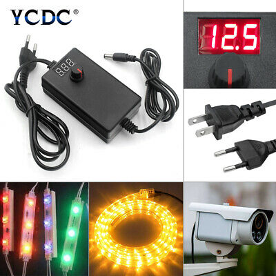 Adjustable Power Supply Adapter Multi-voltage Charger Acdc3-36v Useuuk 24-72w