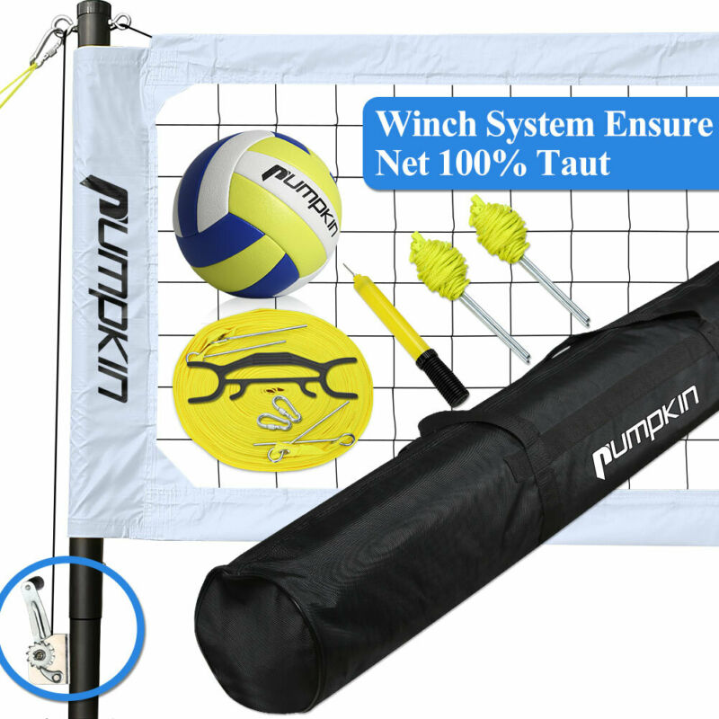 Portable Volleyball Net Set System for Outdoor Beach Garden Team Sports Games US