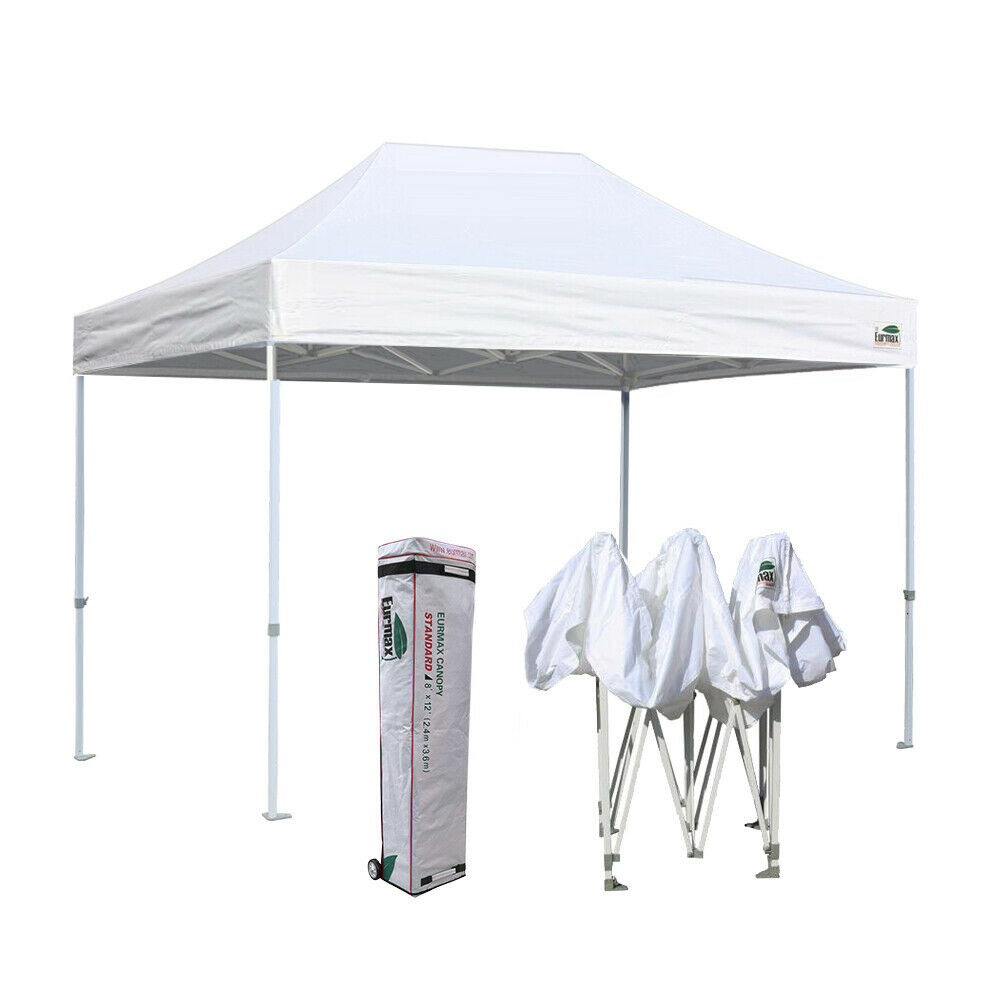 8x12 White Pop Up Instant Canopy Outdoor Commercial Event Ga