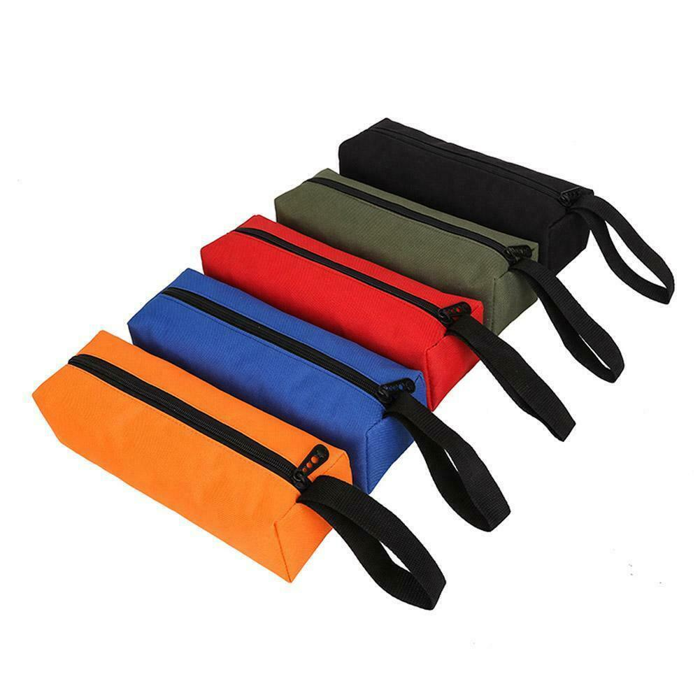 Zipper Storage Tool Bag Small Parts Hand Tool Pouch Organizer Plumber Electricia