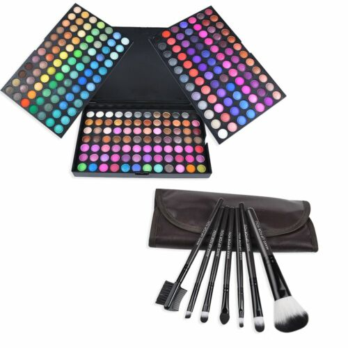 Lidschatten Palette 252 Set Makeup Set Kosmetik Farben mit 7 Pinsel Geschenk Set