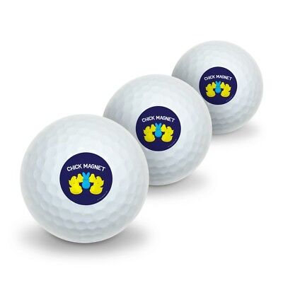Peeps Chick Magnet with Bunny Officially Licensed Novelty Golf Balls 3 Pack (Bunny Balls)