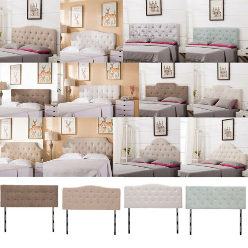 upholstered king queen twin size headboard button