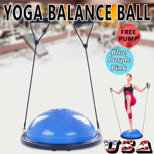"Half Ball Balance Trainer 24"" For Yoga Strength Resistance E"