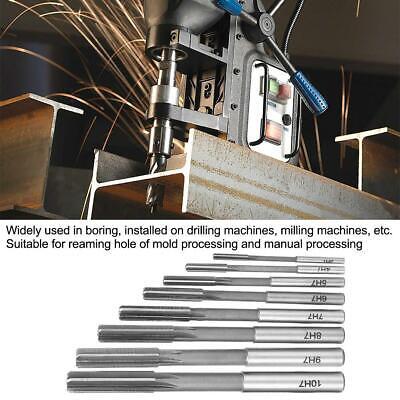 8pcsset Hss H7 Machine Reamer Straight Shank Chucking Reamers Set Cutter