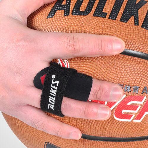 Sports Finger Basketball Splint Guard Bandage Wrap Sleeve Pr