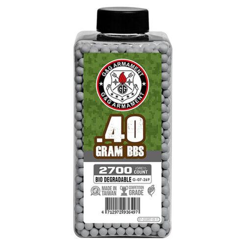 G&G Biodegradable .40g Heavy Weight 6mm Airsoft Sniper Rifle BBs 2700rd G-07-269