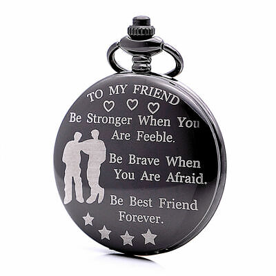 To My Friend Pocket Watch Mens Best Friend Forever with Chain FREE SHIPPING