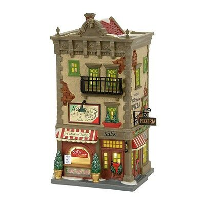 """Dept. 56 Christmas In The City """"SAL'S PIZZA & PASTA"""" ~ MIB ~ New For 2017"""