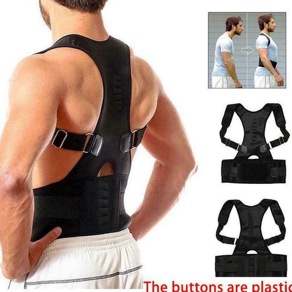 Magnetic Back Support Belt Brace Lumbar Posture Corrector Hi