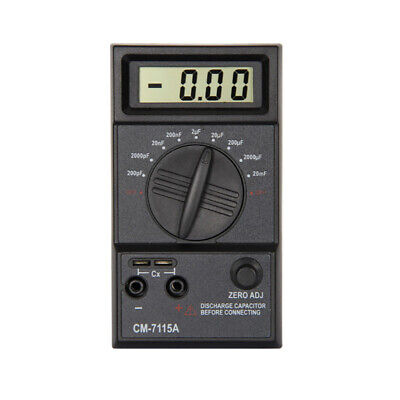 Portable Capacitor Digital Meter High Accuracy Capacitance Tester Multimeter Apt
