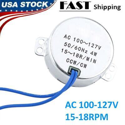 Electric Motor Synchronous Motor 5060hz Ac 100-127v 4w Ccwcw Ac Motor 15-18rpm