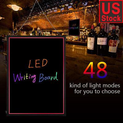 32x24 Flashing Illuminated Erasable Neon Led Message Menu Sign Writing Board