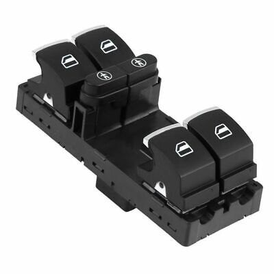 Replace: 5K0 959 855 SmartStyle Black//Chrome Window Switch for Volkswagen