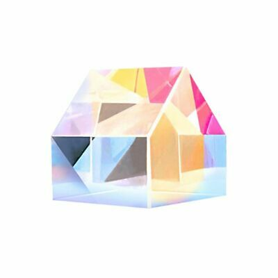 Creative Optical Cabin Rgb Glass Prism Lens Cube Shape Mirror Color Changing