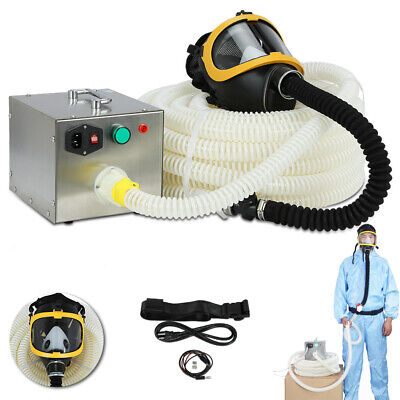Full Face Gas Mask 110-240v Constant Flow Supplied Air Fed Respirator System