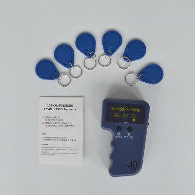 1pc Portable Handheld Card Writercopier Duplicator For 125khz Rfid Cards New