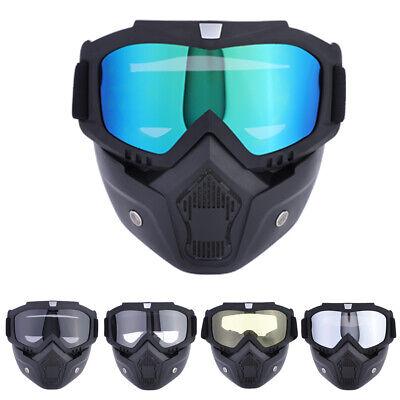 Schutzbrille Motorrad Offroad Racing Gesichtsmaske Mask Abnehmbare Brillen Cool