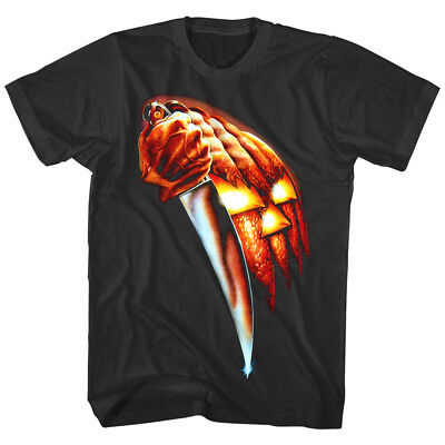 Top Halloween Horror Movies (Halloween Horror Movie Poster Pumpkin Knife Men's T Shirt Michael Myers Mask)