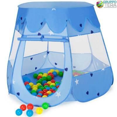 Tenda Gioco Pop-Up Con 100 Palline Colorate Per Bambini Casetta Funny Pieghevole