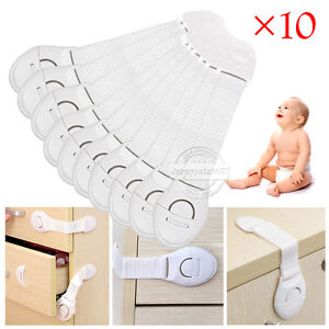 10X Child Baby Cupboard Cabinet Safety Locks Pet Proofing Door Drawer Fridge Kid