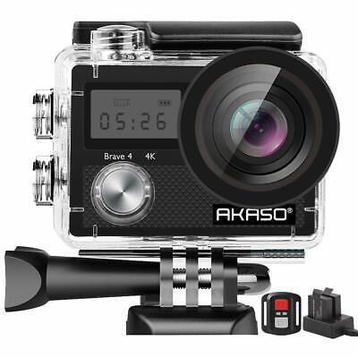 AKASO Brave 4 Action Camera, 4K HD 20MP Wifi Underwater 30m Eis Cam Accessories