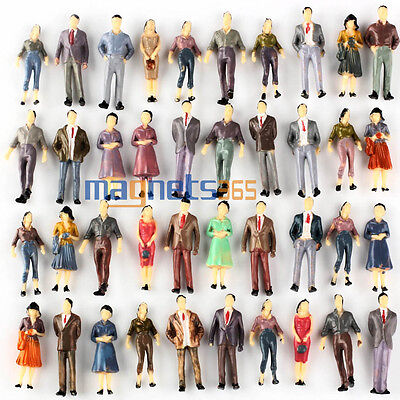 100 Model People Figures Passenegers Train Scenery 1 50 O Scale Mixed Color Pose