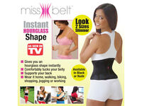 JML Miss Belt - Instant Hourglass Shape - Size S/M - Black