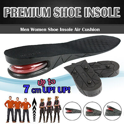 3 5 7Cm Men Air Cushion Heel Shoe Insole Insert Increase Taller Height Lift