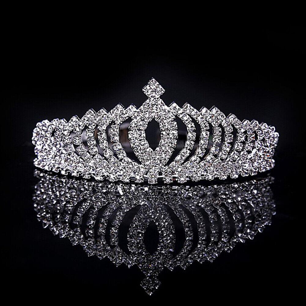 Girl Rhinestone Tiara Hair Band Bridal Princess Prom Crown Headband Gifts Hot