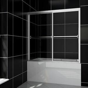 SUNNY SHOWER Bypass Sliding Bathtub Glass Doors 60