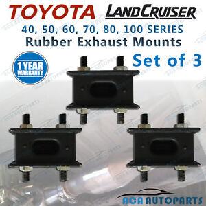 Rubber Exhaust Mount Toyota Landcruiser 40 60 70 80 100 Series Set of 3 Mounts